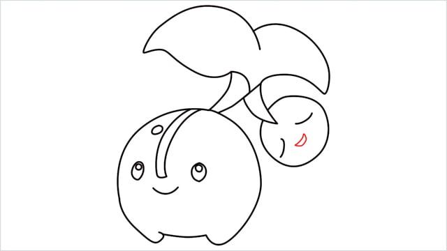 how to draw a Cherubi step (12)