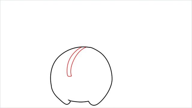 how to draw a Cherubi step (3)