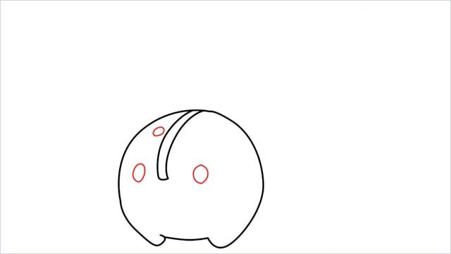 how to draw a Cherubi step (4)