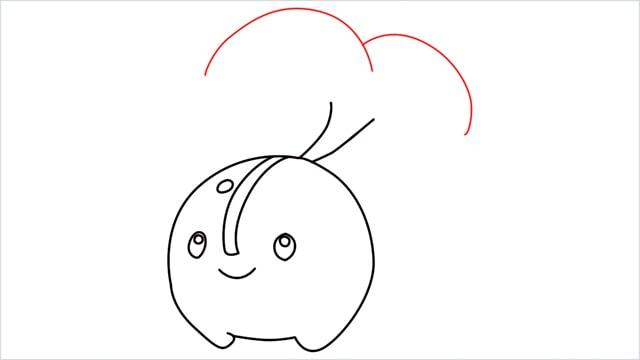 how to draw a Cherubi step (7)
