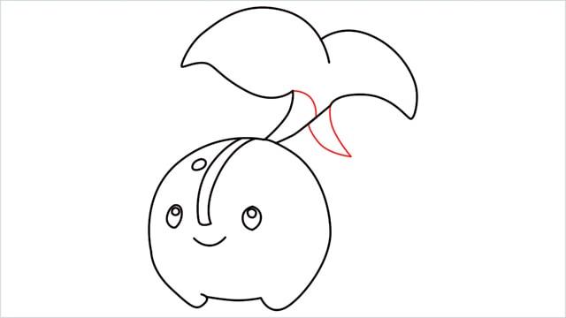 how to draw a Cherubi step (9)