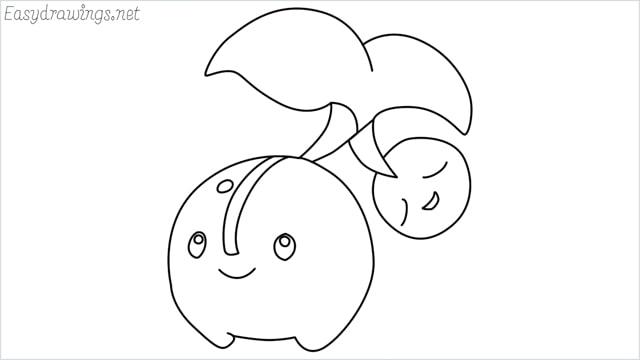 how to draw a Cherubi step by step