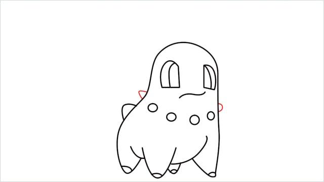 how to draw a Chikorita step (10)