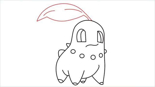 how to draw a Chikorita step (11)