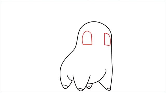 how to draw a Chikorita step (6)