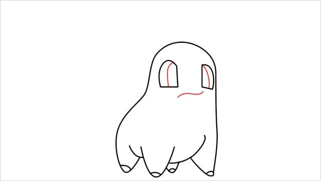 how to draw a Chikorita step (7)