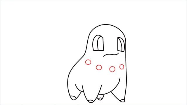 how to draw a Chikorita step (8)