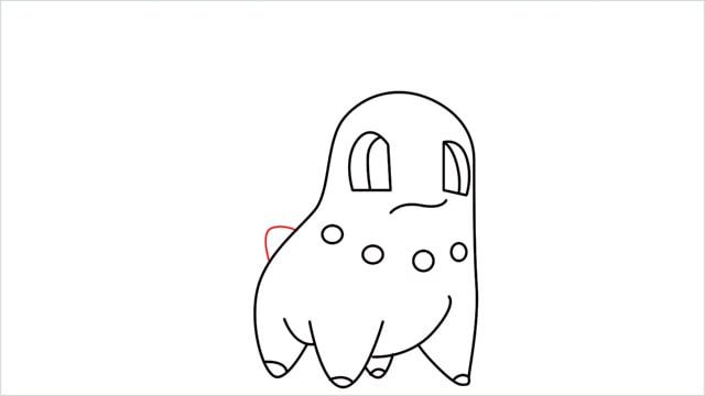 how to draw a Chikorita step (9)