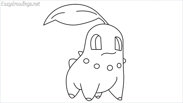 how to draw a Chikorita step by step