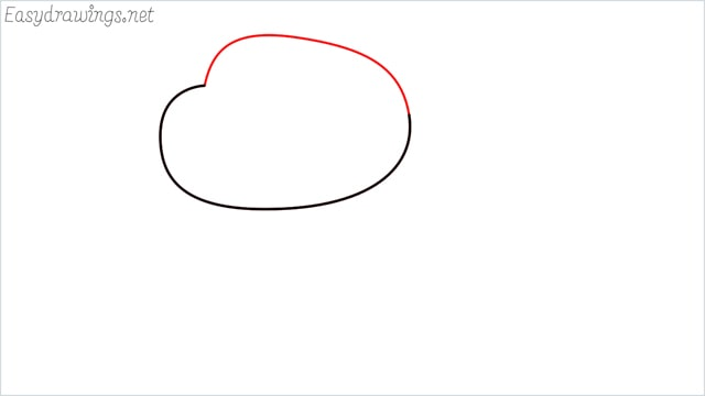 how to draw a Darwin Watterson step (2)