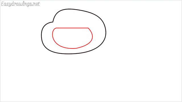 how to draw a Darwin Watterson step (3)