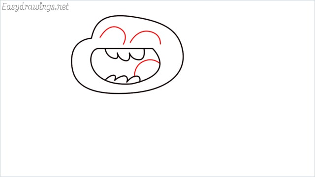 how to draw a Darwin Watterson step (5)