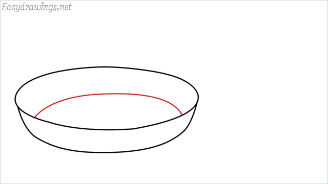 how to draw a Frying pan step (3)