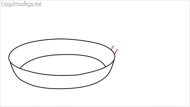 how to draw a Frying pan step (4)