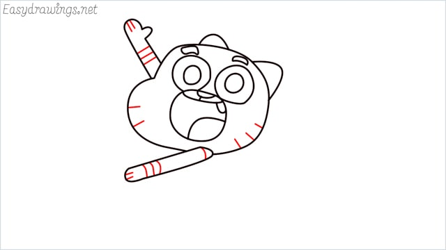 how to draw a Gumball Watterson step (10)