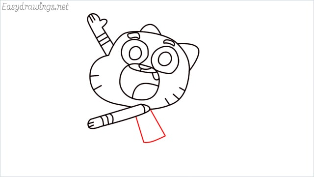 how to draw a Gumball Watterson step (11)
