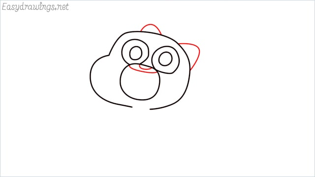 how to draw a Gumball Watterson step (6)