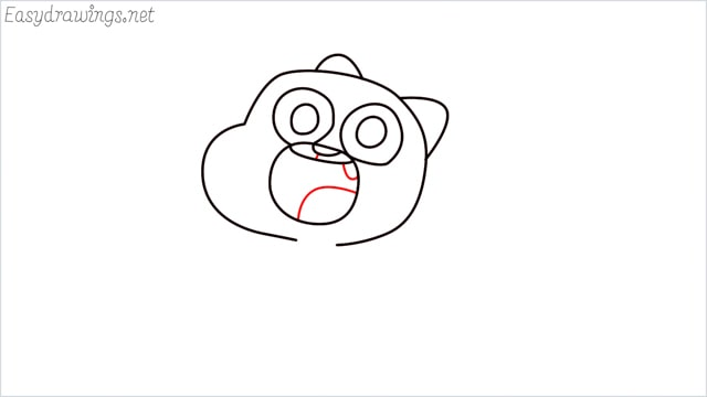 how to draw a Gumball Watterson step (7)