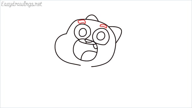 how to draw a Gumball Watterson step (8)