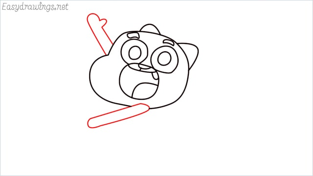 how to draw a Gumball Watterson step (9)