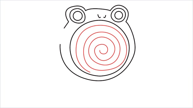 how to draw a Poliwhirl step (7)
