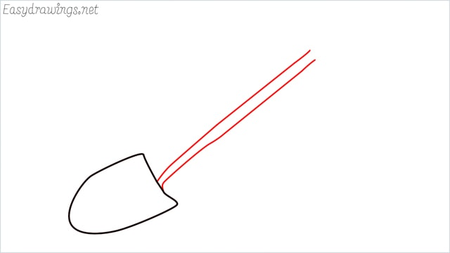 how to draw a Shovel step (3)