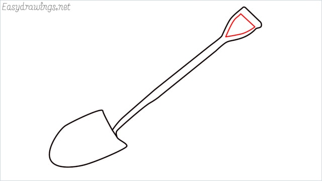 how to draw a Shovel step (5)