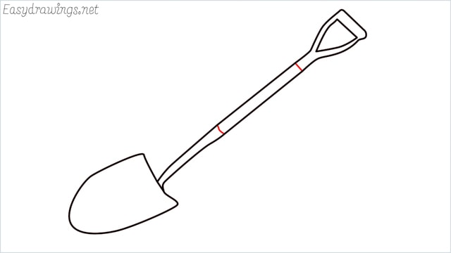 how to draw a Shovel step (6)