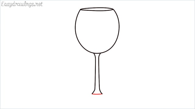how to draw a Wine glass step (4)