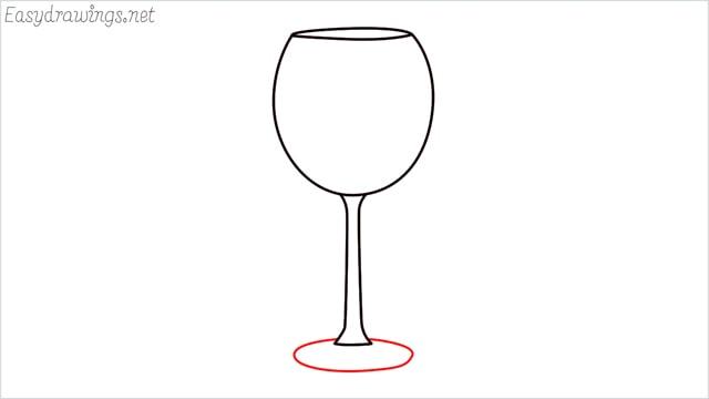 how to draw a Wine glass step (5)