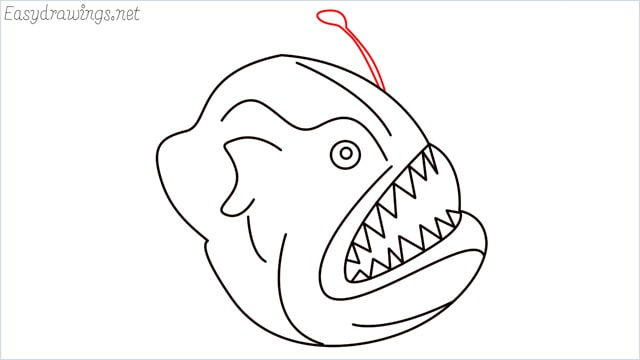 how to draw a angler fish step (10)