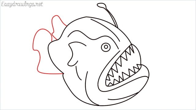 how to draw a angler fish step (11)