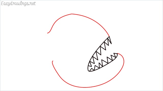 how to draw a angler fish step (3)