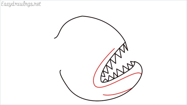 how to draw a angler fish step (4)