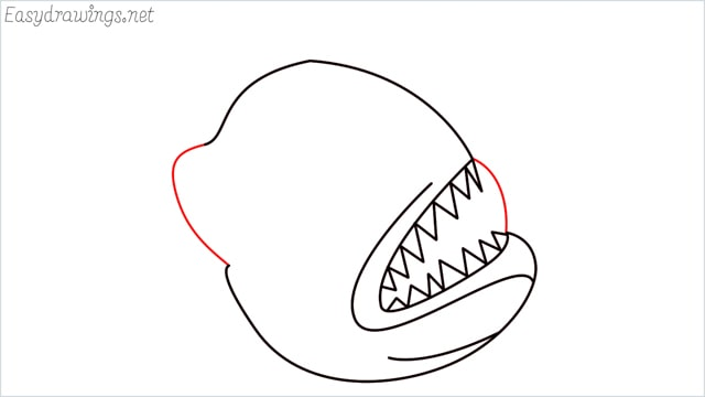 how to draw a angler fish step (5)
