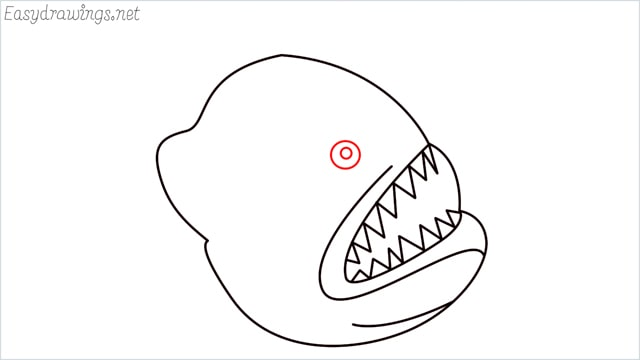 how to draw a angler fish step (6)