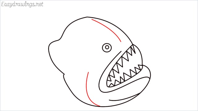 how to draw a angler fish step (7)