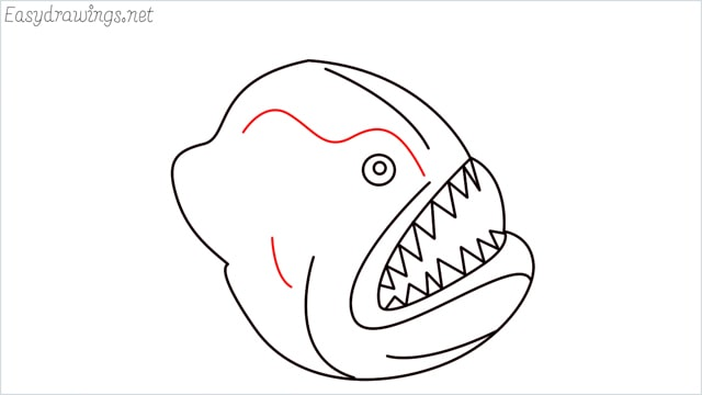 how to draw a angler fish step (8)