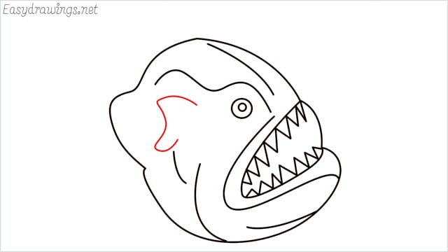 how to draw a angler fish step (9)