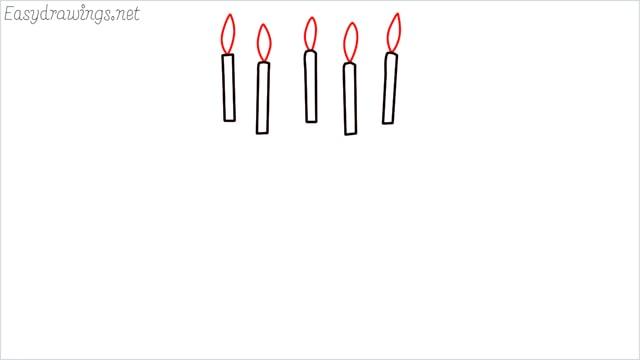 how to draw a birthday cake step (2)