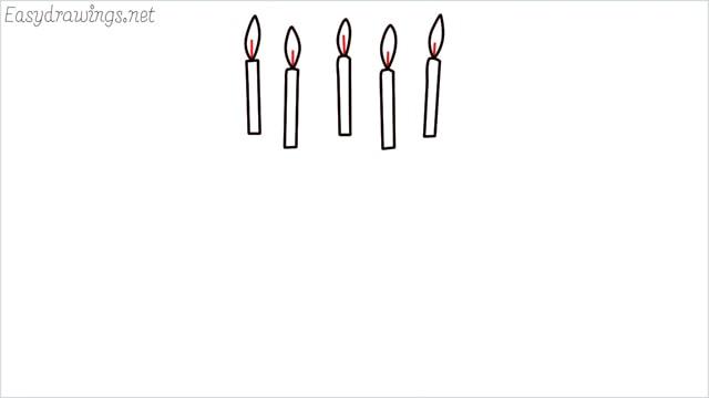 how to draw a birthday cake step (3)