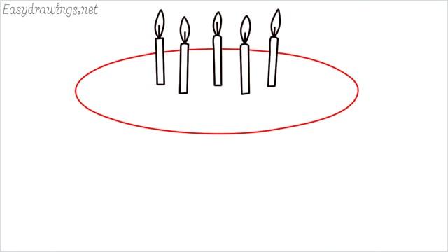 how to draw a birthday cake step (4)