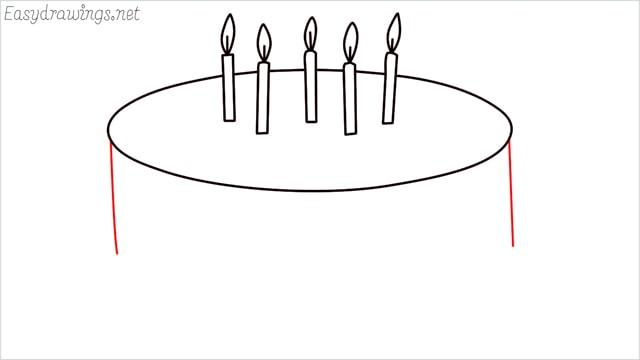 how to draw a birthday cake step (5)