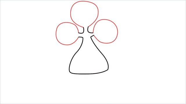 how to draw a bonsly step (3)