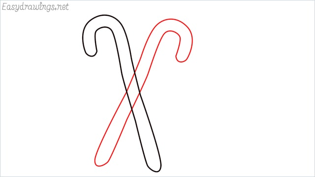 how to draw a candy cane step (2)