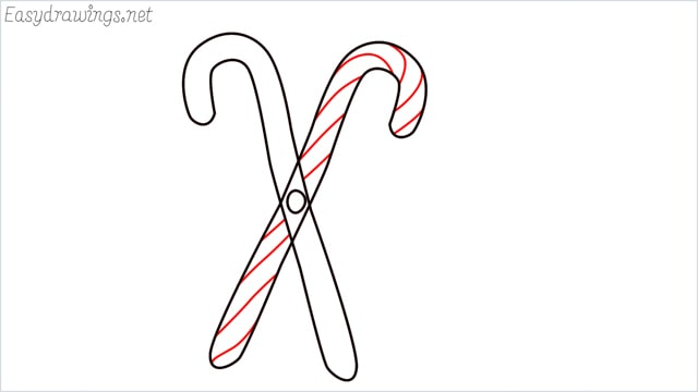 how to draw a candy cane step (4)