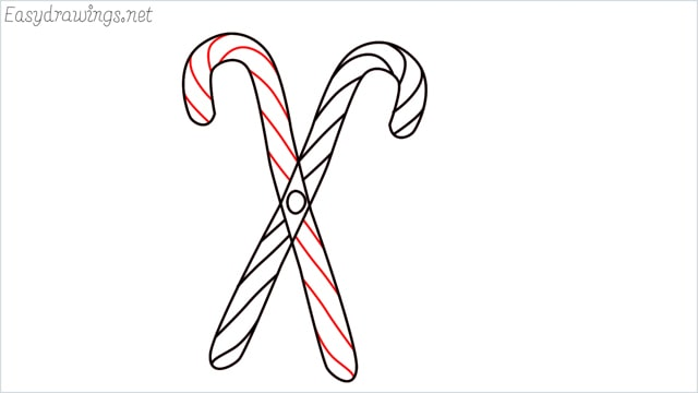 how to draw a candy cane step (5)
