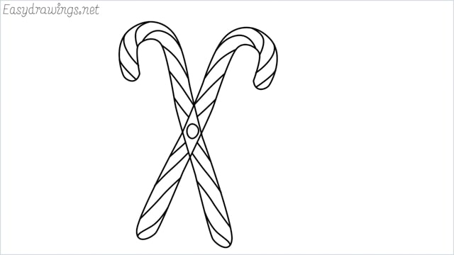 how to draw a candy cane step by step