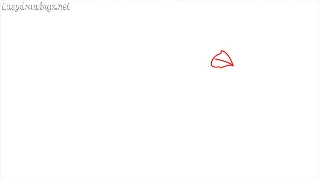 how to draw a cardinal bird step (1)