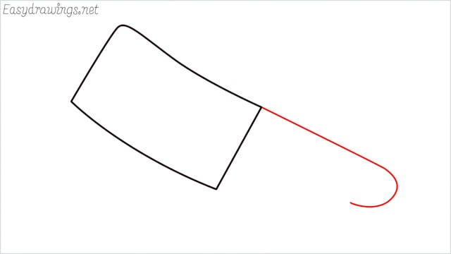 how to draw a cleaver step (3)